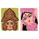 Face of Durga - Set of 2 Small Poster