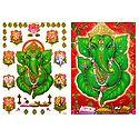 Ashta Vinayak and Leaf Ganesha - Set of 2 Posters