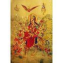 Bhagawati - Golden Metallic Poster