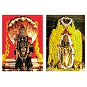 Udupi Krishna and Sri Lakshmi - 2 Small Posters