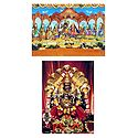 Radha Krishna & Narasimha Avatar - Set of Two