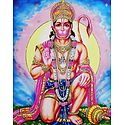 Hanuman - Devotee of Lord Rama - Glitter Poster
