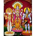 Brahma, Vishnu and Shiva - Glitter Poster