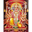 Panchamukhi Hanuman - Glitter Poster