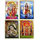 Radha Krishna,Young Krishna, Balaji - Set of 4 Posters