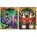 Radha Krishna and Gaur Nitai - Set of 2 Photo Print