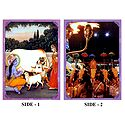Krishna, Yashoda and Pooram Festival - Double Sided Laminated Poster