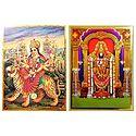 Lord Venkateshwara,Vaishno Devi - Set of 2 Posters