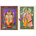 Ganesha and Radha Krishna - Set of 2 Posters