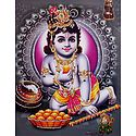 Laddu Gopal - Glitter Poster
