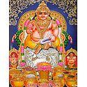 Sri Kubera - Glitter Poster