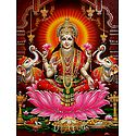Goddess Lakshmi - Glitter Poster