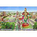 Aerial View of Sri Meenakshi Temple