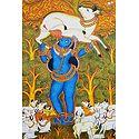 Bal Gopal Drinking Milk from Cow's Udder