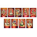 Navadurga - The Manifestation of Durga in Nine Different Forms - Set of 9 Photographic Prints