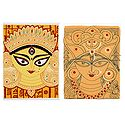 Goddess Durga - Set of 2 Small Poster