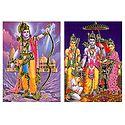 Lord Rama and Ram Darbar - 2 Small Posters