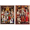 Ram Darbar - Set of 2 Glitter Posters