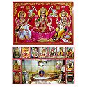 Lakshmi, Saraswati, Ganesha and Mahakaleshwar - Set of 2 Posters