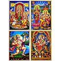 Lakshmi, Saraswati, Ganesha,Hanuman and Vaishno Devi - Set of 4 Posters