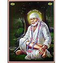 Shirdi Sai Baba - Poster with Glitter