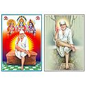 Shirdi Sai Baba - Set of 2 Laminated Posters