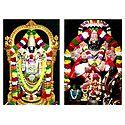 Vishnu and Narasimha Avatar - 2 Photo Prints