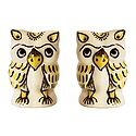 Set of 2 Ceramic Owl Incense Burner with 5 Holes