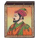Shahjahan - Jewelry Box with Gemstone Painting