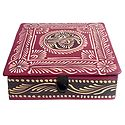 Embossed Leather Square Jewelry Box