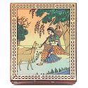 Ragini Todi  - Jewelry Box with Gemstone Painting