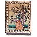 Ragini Vasanta - Jewelry Box with Gemstone Painting
