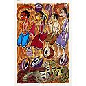 Tribal Festivities - Kalighat Painting