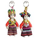 Pair of Cute Doll Key Rings