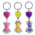 Set of 3 Colorful Teddy with Rose on Heart