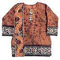 Brown Batik Kurta