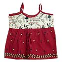Kantha Stitched Red Frock