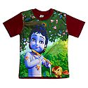 Printed Krishna on T-Shirt for Young Boy