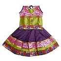 Purple Ghagra and Green Choli with Gorgeous Border