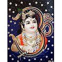 Bal Gopala on Om - Glitter Poster