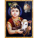 Cowherd Krishna with Cow