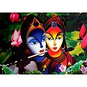 Radha Krishna Poster - The Eternal Lovers