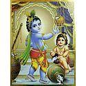 Makhan Chor Krishna and Balaram
