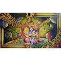 Krishna Sitting in the Lap of Mother Yashoda