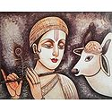 Gopala Krishna with Cow