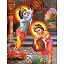 Krishna and Balaram Stealing Butter