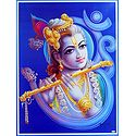 Lord Krishna in Om