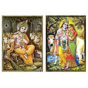 Krishna and Radha Krishna - Set of 2 Posters