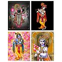 Srinathji and Krishna - Set of 4 Posters