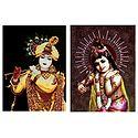 Set of 2 Krishna Posters
